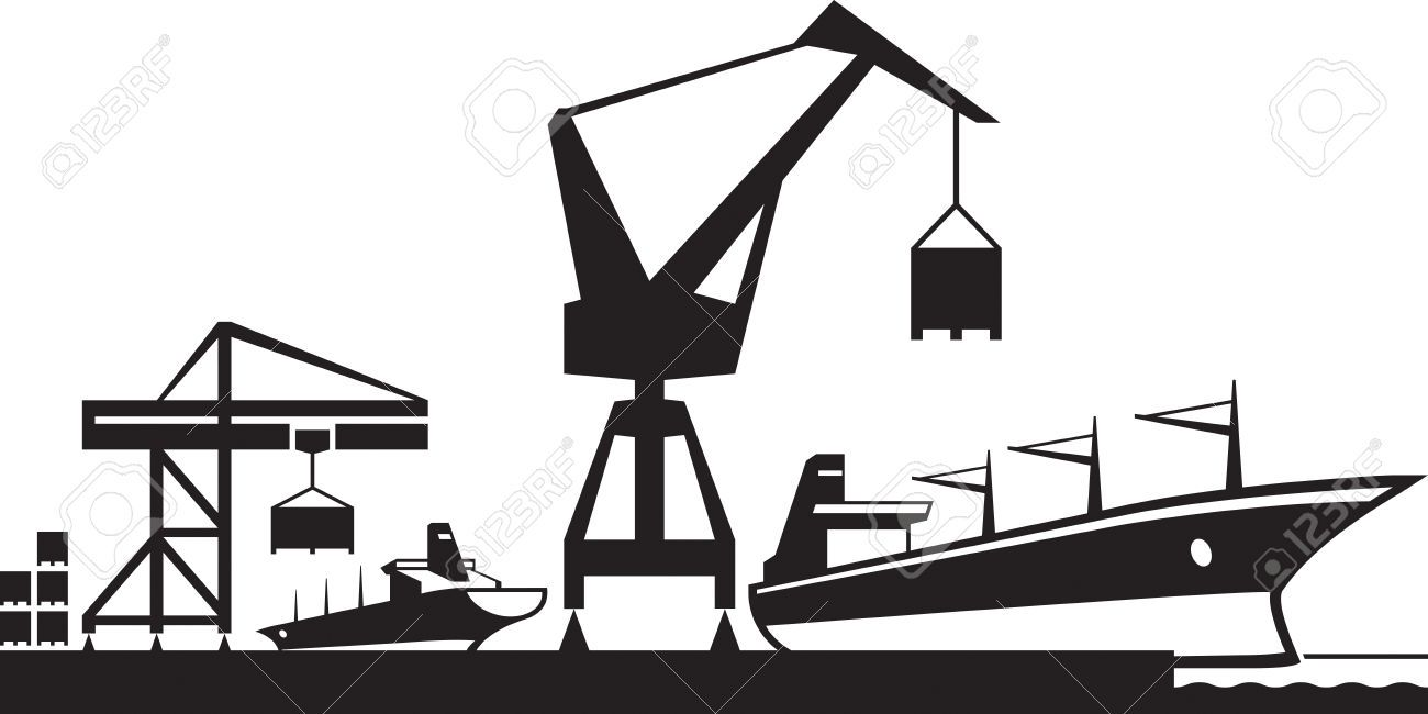 Clipart harbour picture black and white stock port terminal icons - Google zoeken   Logistics interfacing   Home ... picture black and white stock