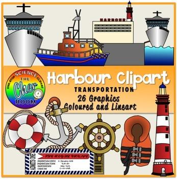 Clipart harbour vector freeuse Harbour Clipart (Transportation/Port/Pier/Nautical) vector freeuse