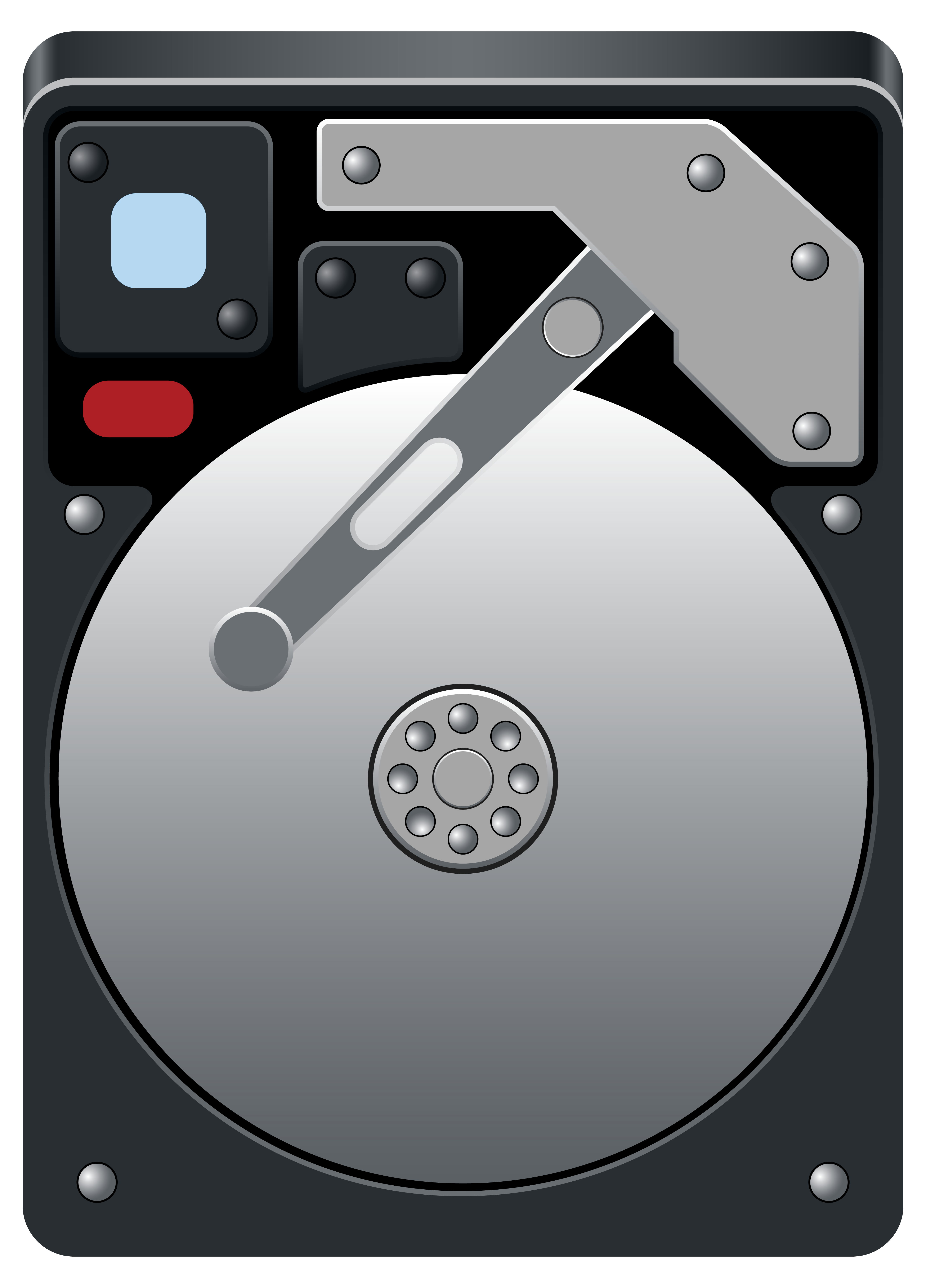 Clipart hard drive image black and white download Computer Hard Disk Drive HDD PNG Clipart - Best WEB Clipart image black and white download