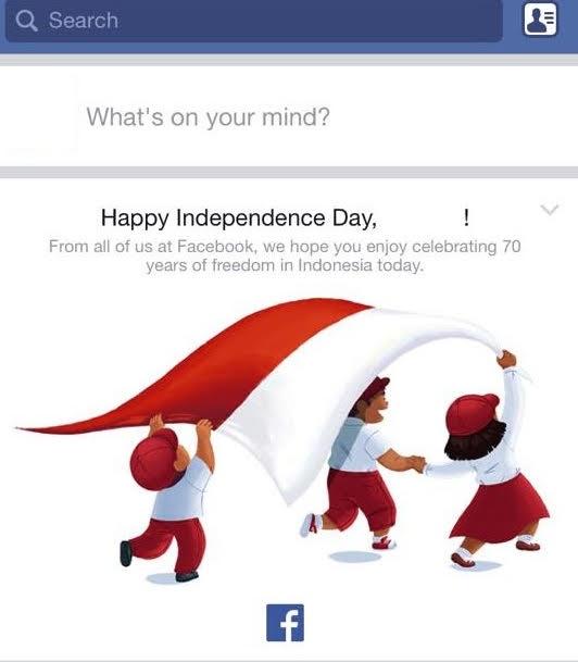 Clipart hari kemerdekaan indonesia vector free library Facebook turut ucapkan Selamat Hari Kemerdekaan Indonesia ke-70 ... vector free library