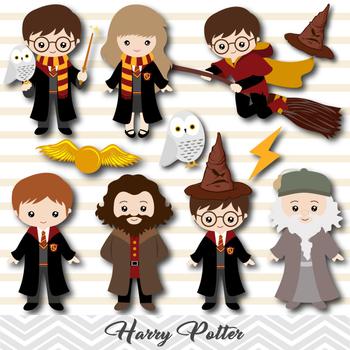 Clipart harry potter vector transparent library Digital Harry Potter Clip Art, Harry Potter Clipart, 0090 vector transparent library