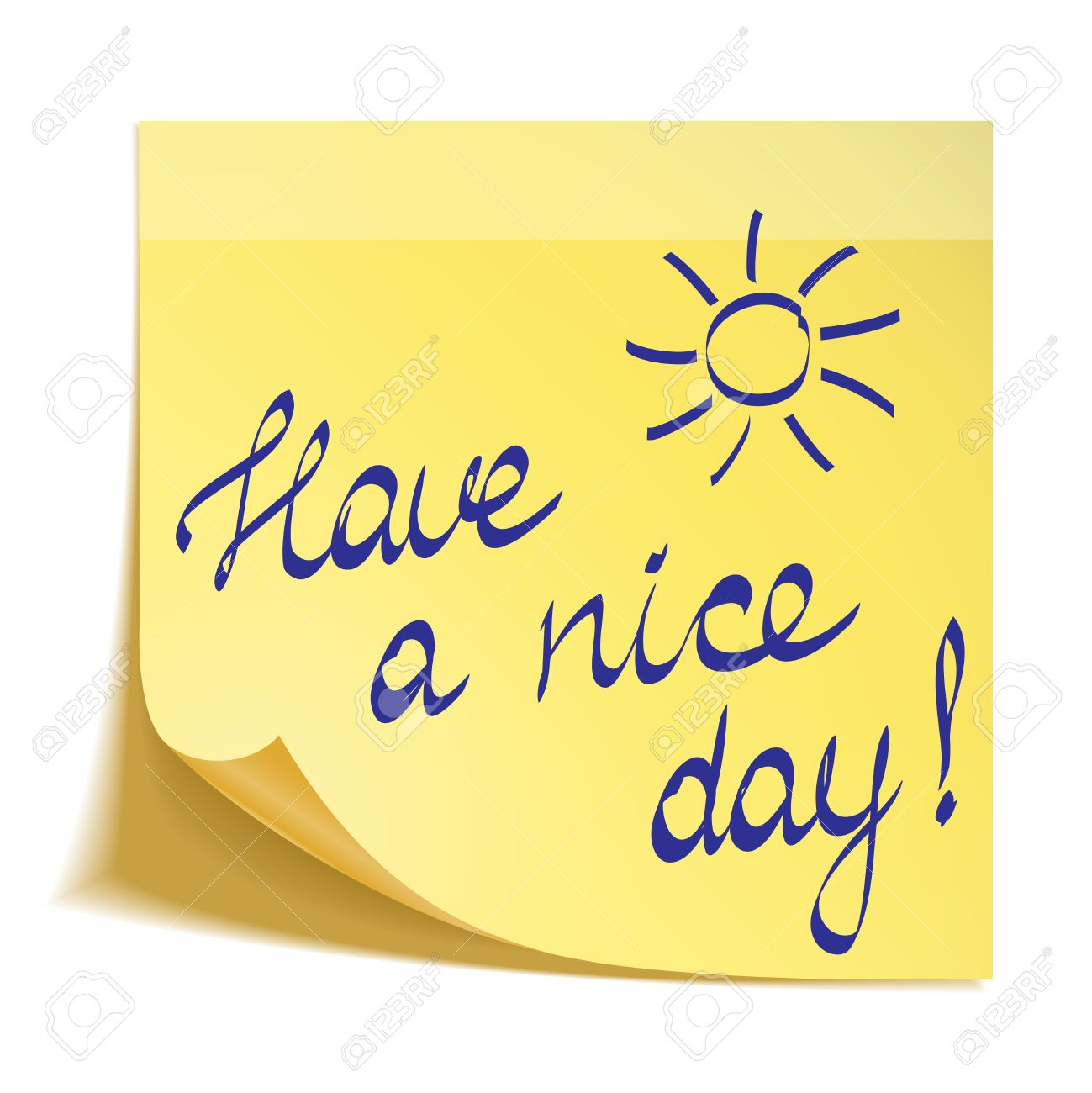 Clipart have a nice day png library download Have a nice day note » Clipart Station png library download