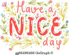 Nice day clipart vector library stock Have A Nice Day Clip Art - Royalty Free - GoGraph vector library stock