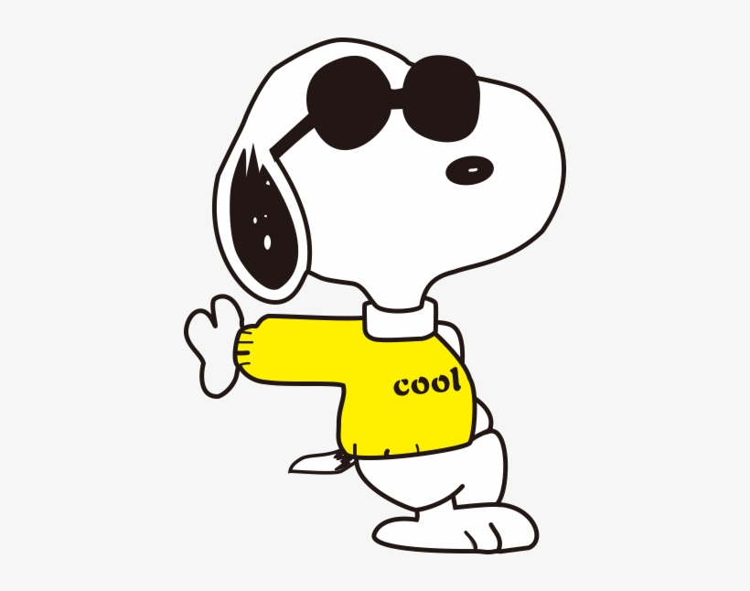 Clipart hcool svg black and white Snoopy Clipart Joe Cool - Snoopy Joe Cool Png Transparent PNG ... svg black and white