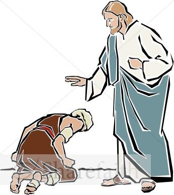Clipart heal image transparent stock Jesus Heals the Leper | New Testament Clipart image transparent stock