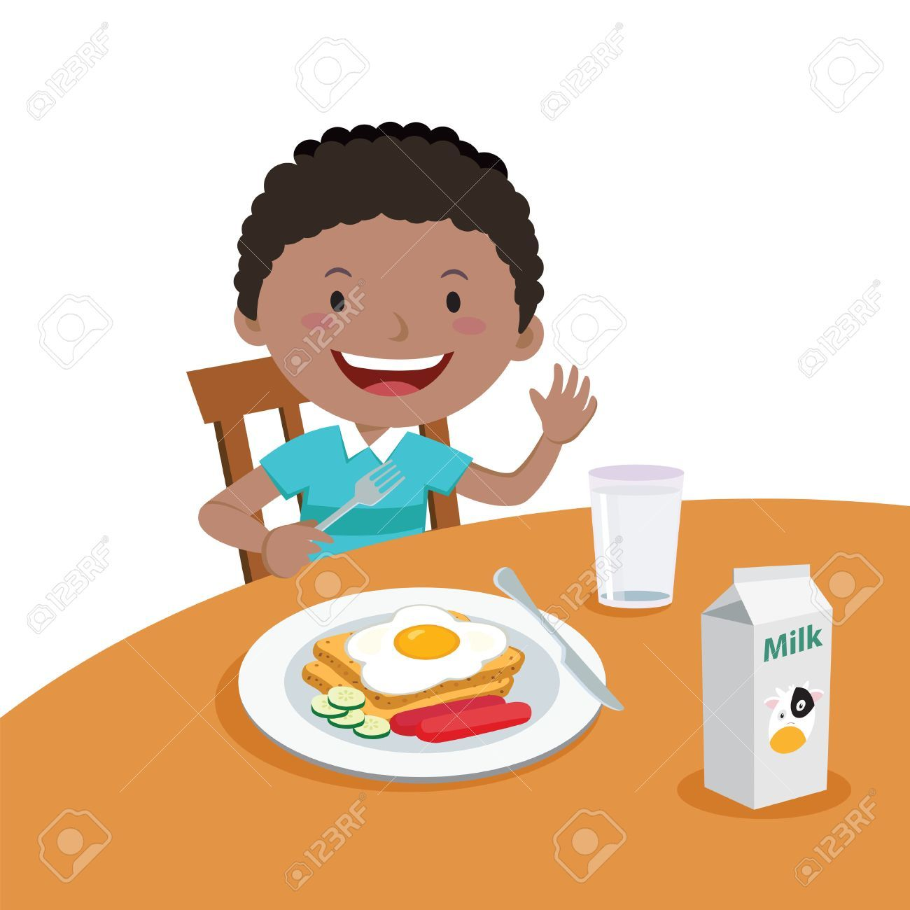 Clipart healthy breakfast clip art free library Boy eating breakfast clipart 2 » Clipart Portal clip art free library
