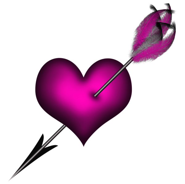 Heart with arrow clipart black and white jpg library library Transparent Pink Heart with Arrow PNG Clipart | HEARTS & BOXES PNG ... jpg library library