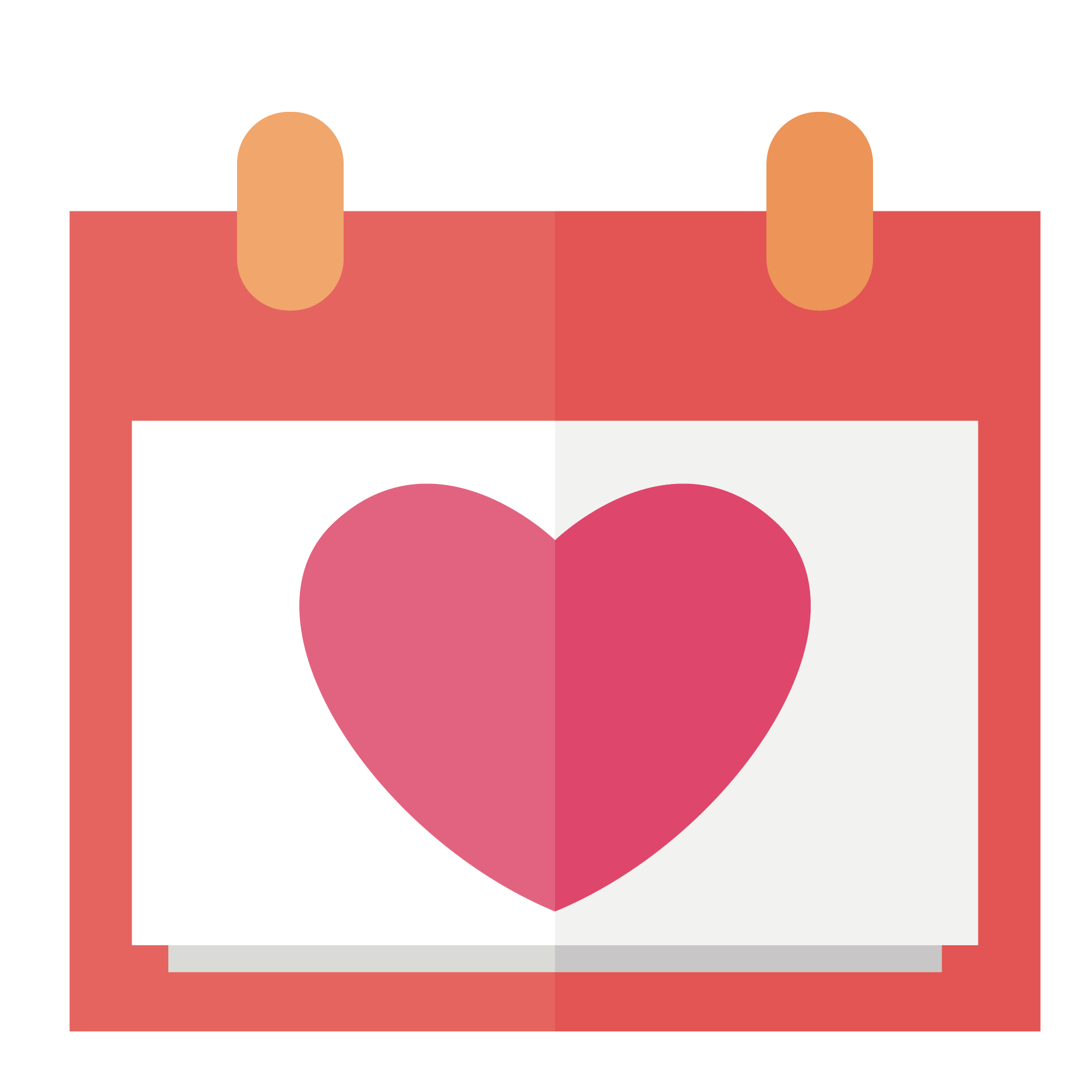 Heart with heartbeat clipart download Euclidean vector Clip art - Vector Heart Calendar 1875*1875 ... download