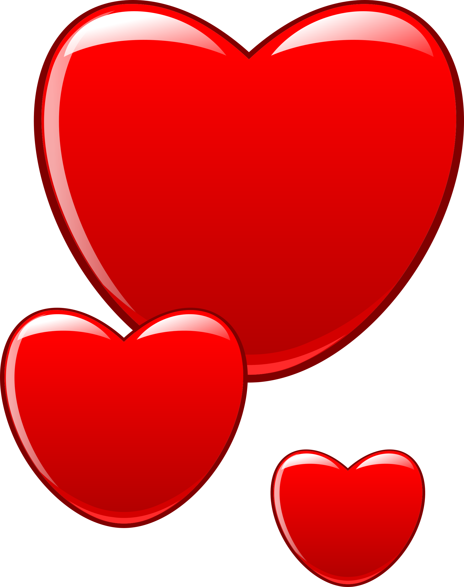 Heart beating clipart vector free stock Clipart - Hearts that beat as one vector free stock