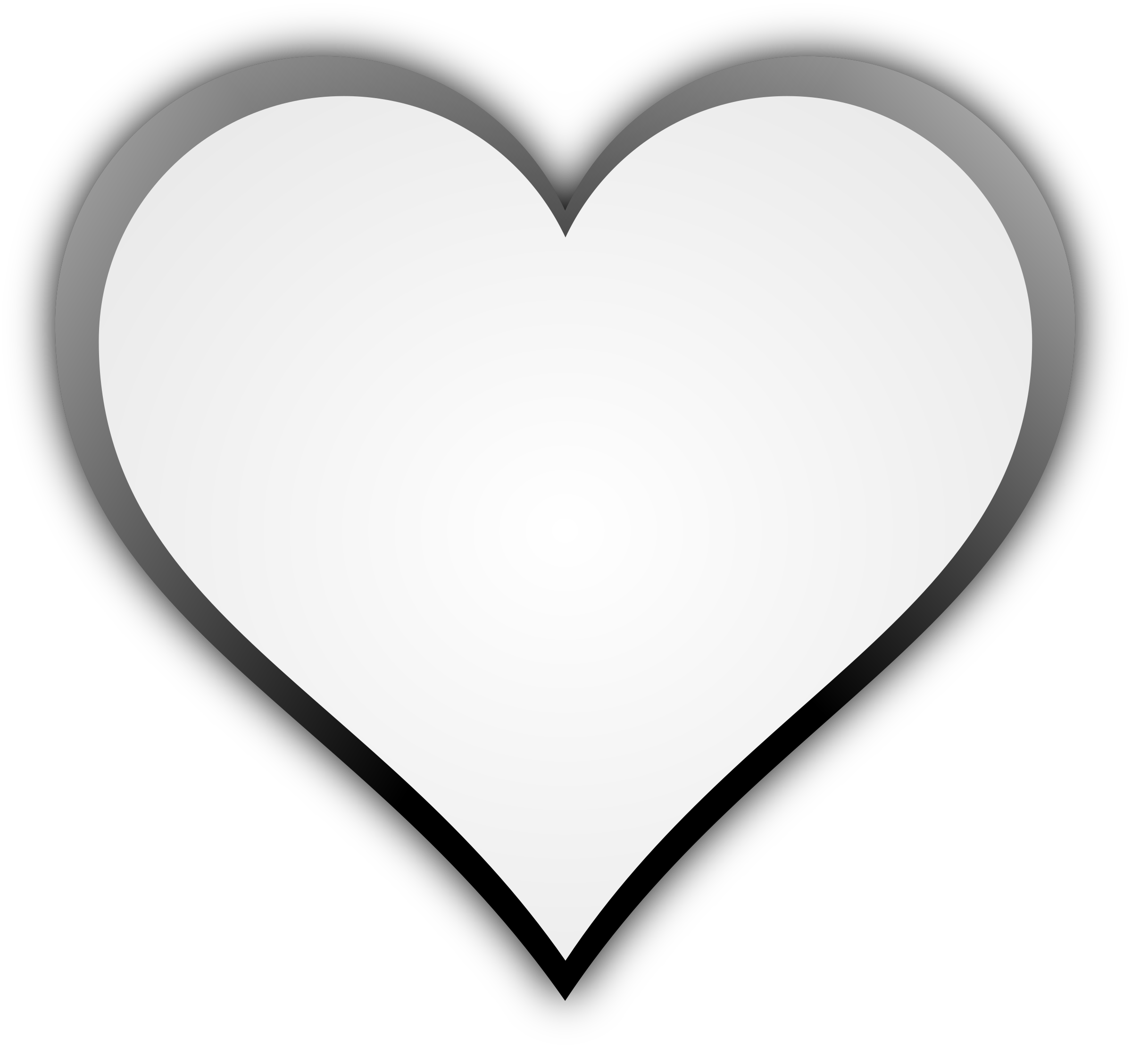Heart box clipart black and white svg transparent Clipart - Heart svg transparent
