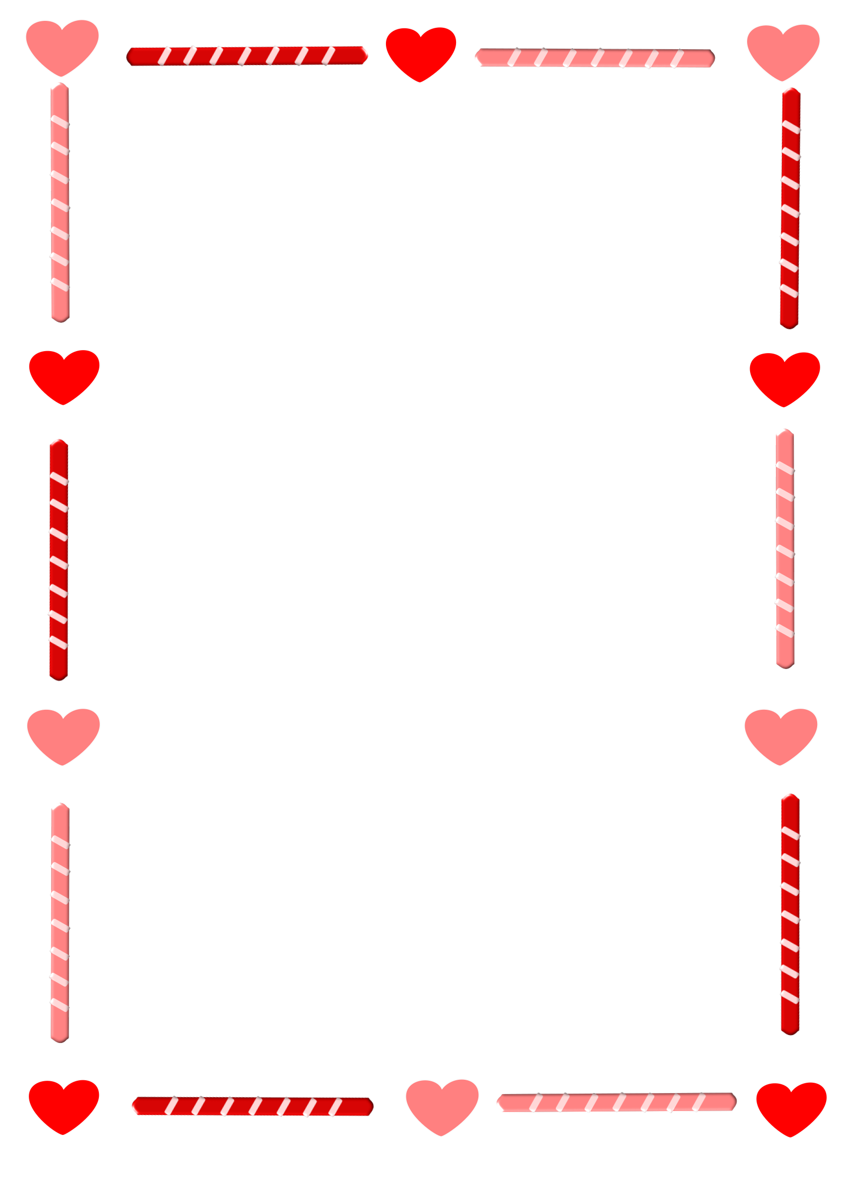 Heart border clipart banner royalty free Heart Border Clipart Transparent | Letters Format banner royalty free