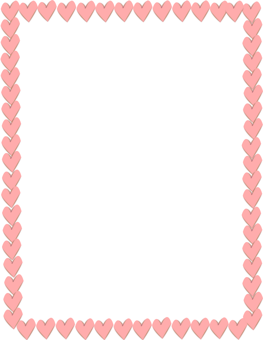 Pink heart border clipart picture freeuse Pink Hearts Border Page Frames Holiday Clipart picture freeuse