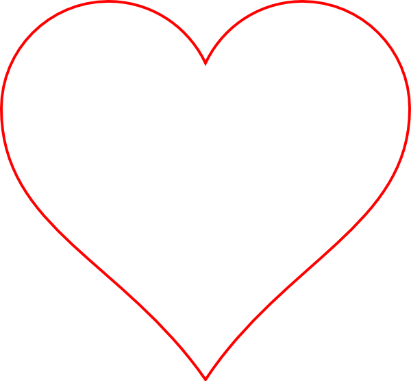 Heart border clipart transparent library Transparent Heart Red Border Clip Art at Clker.com - vector clip art ... transparent library
