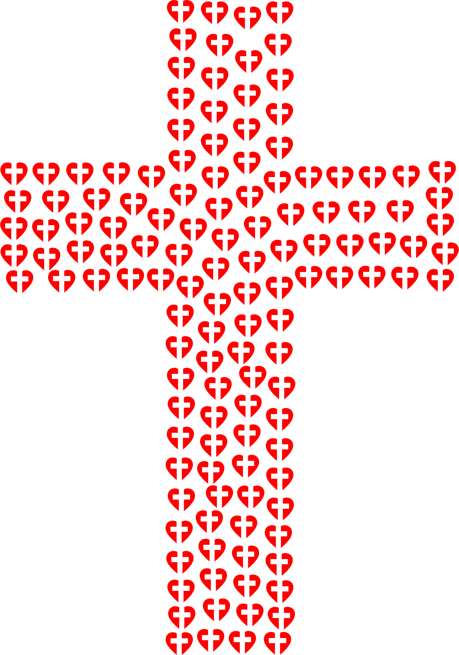 Cross clipart with heart graphic stock Clipart - Heart Cross Fractal graphic stock