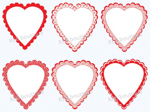 Clipart heart frame png download Clipart Heart Frames, Clip Art Heart Frames - Valentine\'s Day ... png download