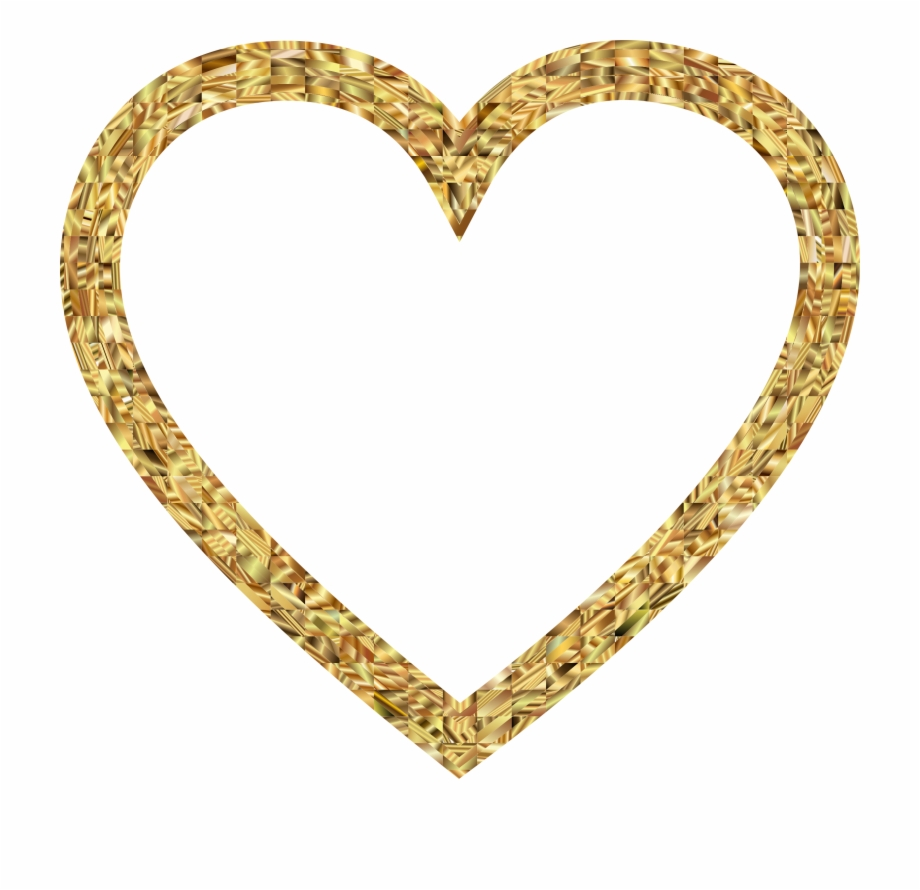 Clipart heart frame freeuse Golden Hearts Clipart - Heart Frame No Background Free PNG Images ... freeuse