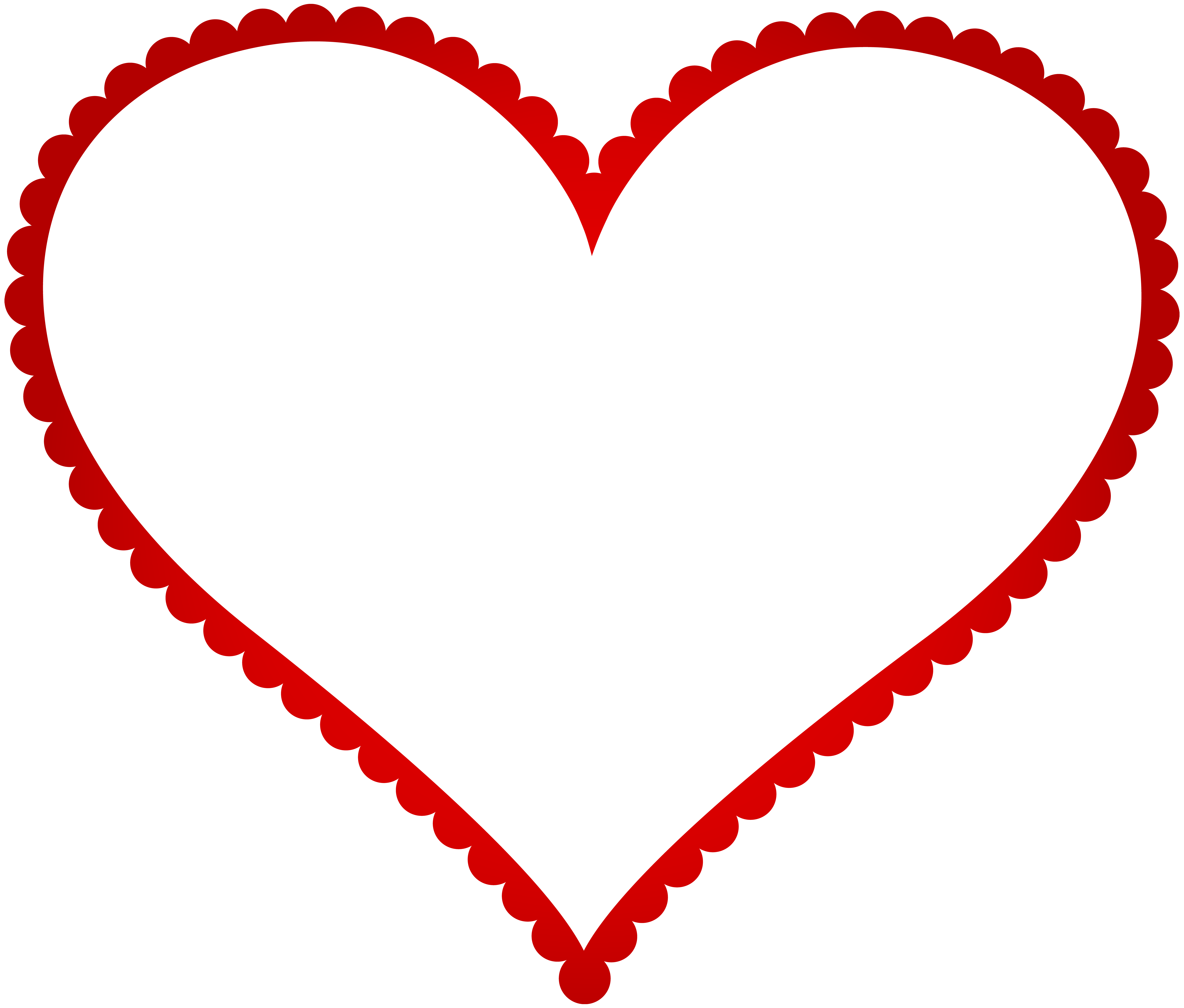 Clipart heart frame image freeuse stock Red Heart Border Frame Transparent PNG Clip Art | Gallery ... image freeuse stock