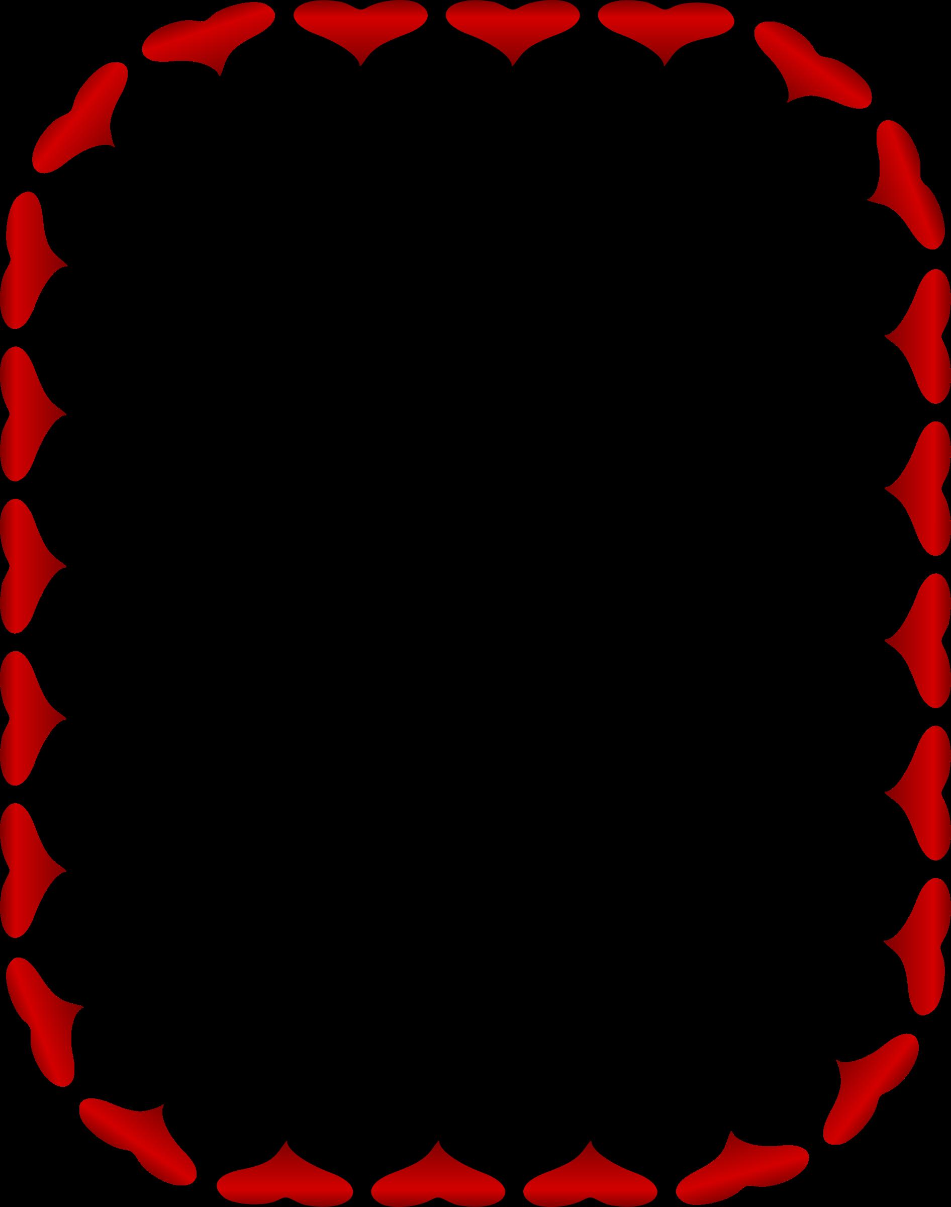 Clipart heart frames vector Clipart - Heart frame 6 (colour) vector