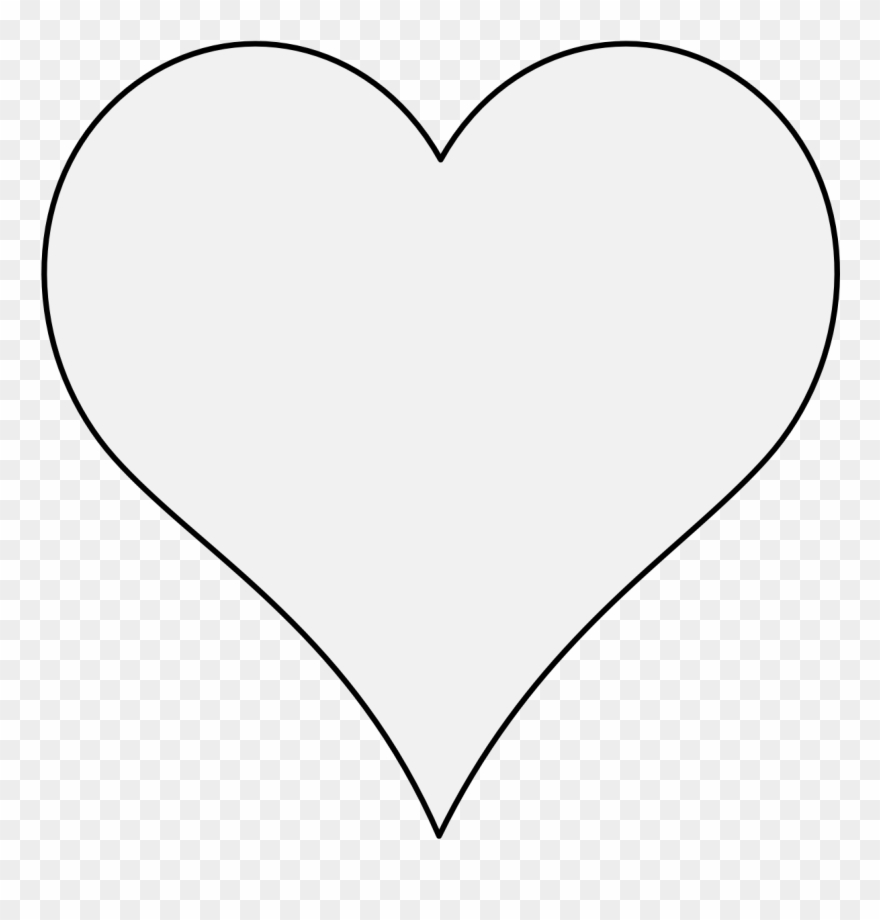 Clipart heart icon image Pdf - White Heart Icon Transparent Background Clipart (#3325218 ... image