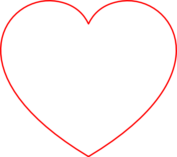 Hollow heart clipart picture free download Red Outline Heart Clip Art at Clker.com - vector clip art online ... picture free download