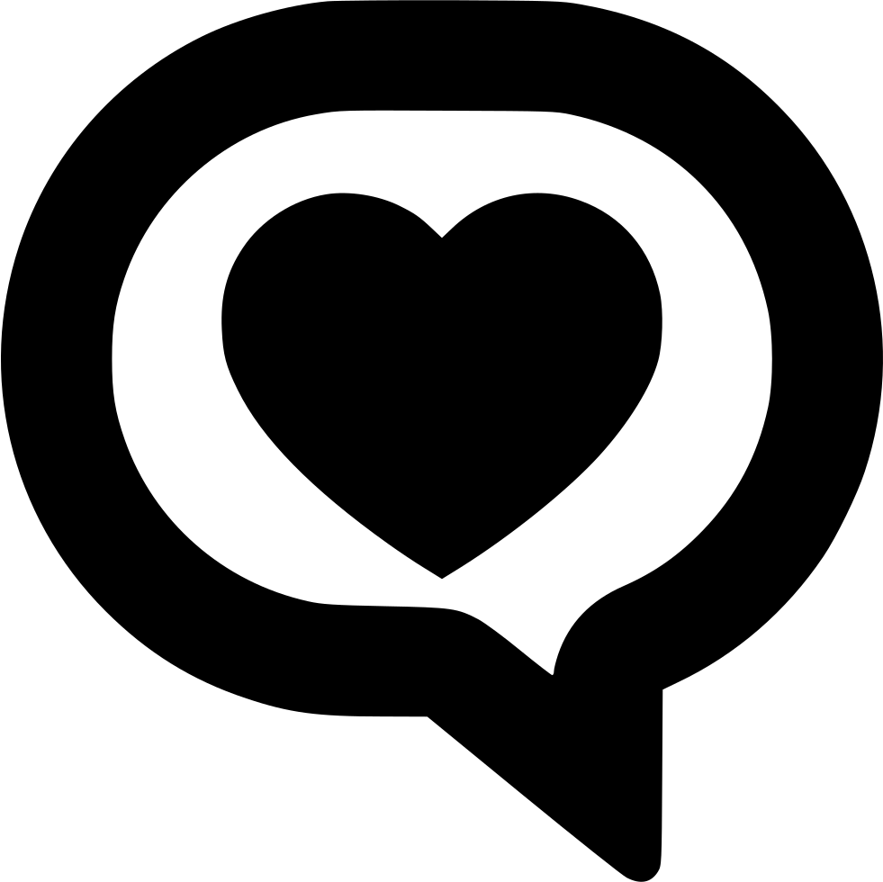 Clipart heart outline talk graphic library download Message Comment Chat Bubble Forum Speech Talk Text Love Svg Png Icon ... graphic library download