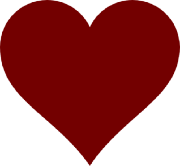 Clipart heart png svg stock Dark Red Heart PNG Clipart | PNG Mart svg stock