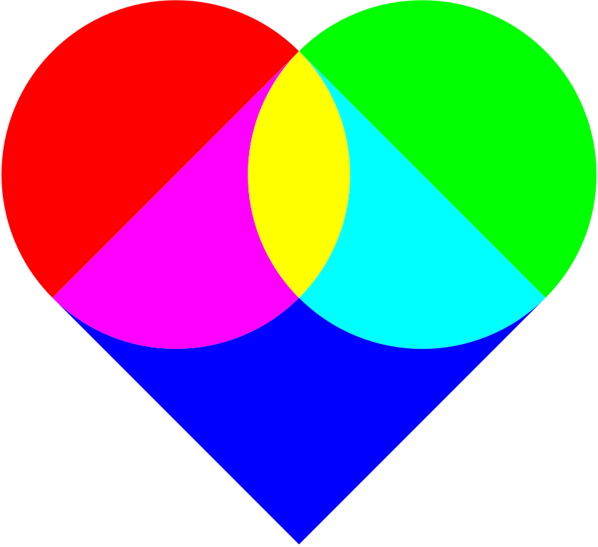 Clipart heart shape picture freeuse library File:SVG heart made of simple shapes.svg - Wikimedia Commons picture freeuse library
