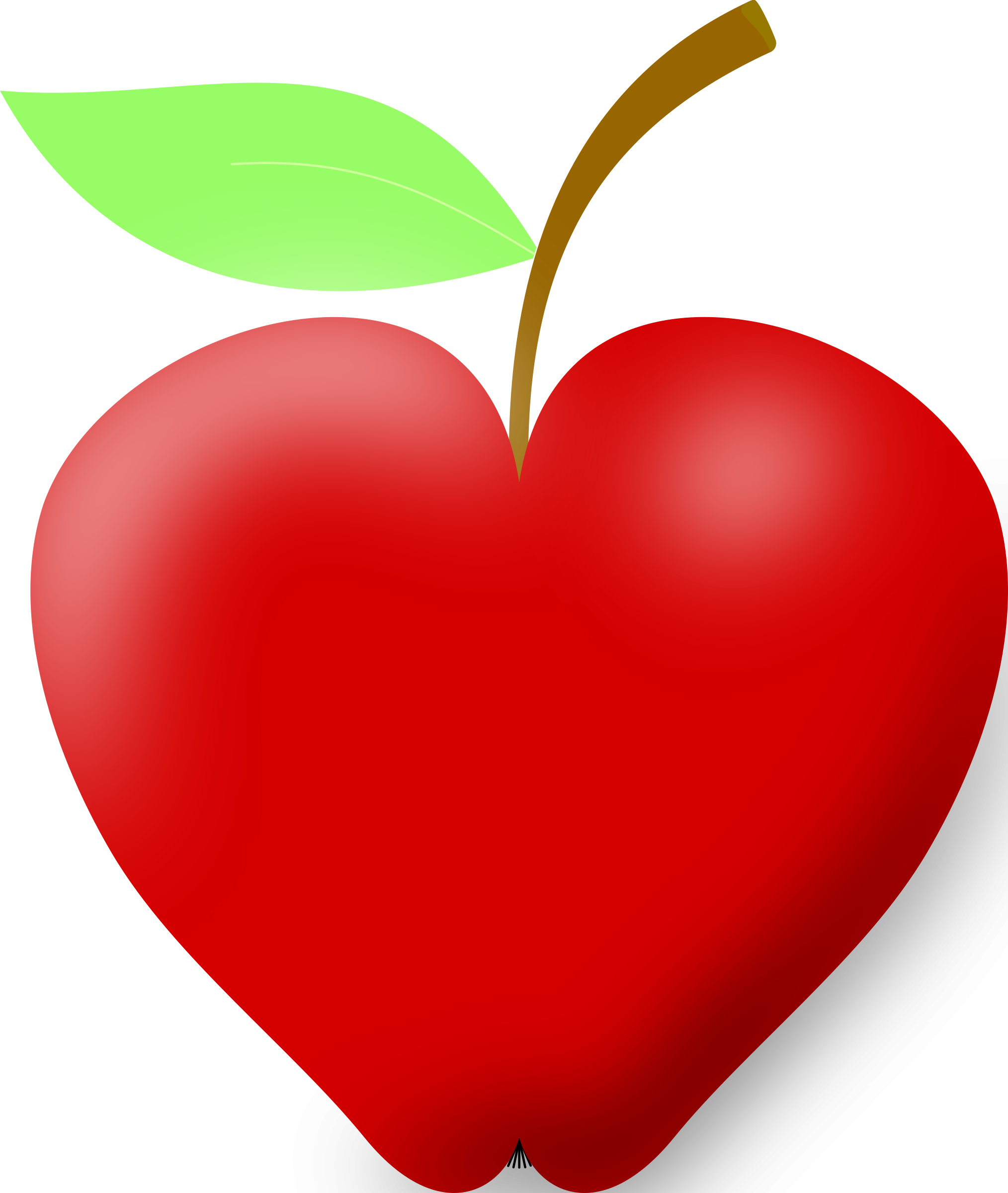 Heart shaped leaf clipart jpg black and white library 28+ Collection of Heart Shaped Apple Clipart | High quality, free ... jpg black and white library