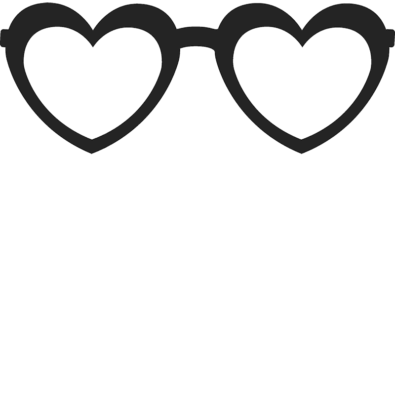 Heart sunglasses clipart clipart transparent Heart-Shaped Glasses Stamp | Glasses Stamps – Stamptopia clipart transparent