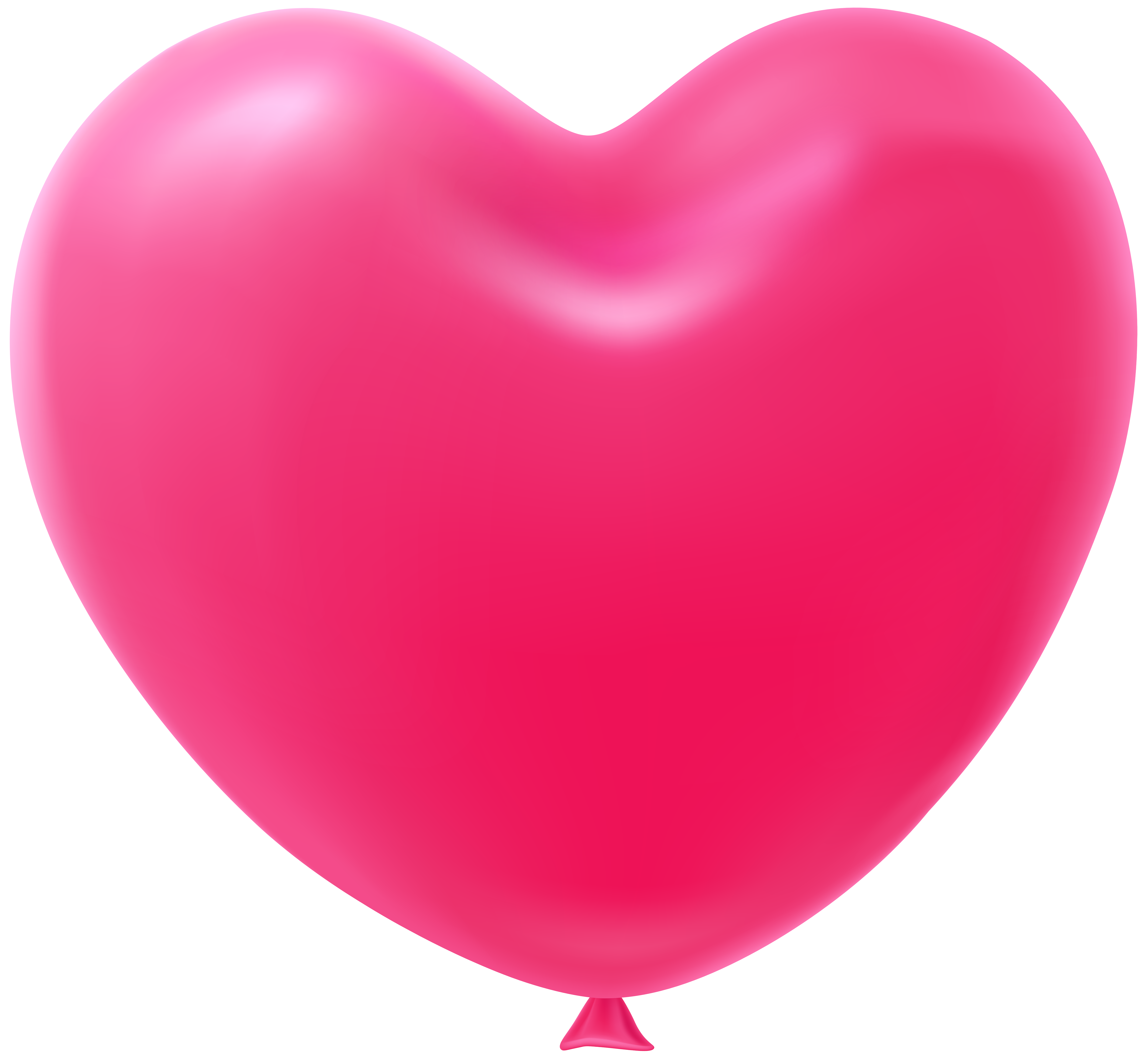Heart shaped clipart image black and white stock Heart Shape Balloon Pink Transparent Clip Art Image | Gallery ... image black and white stock