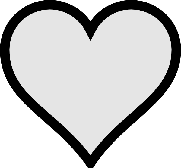 Football heart clipart black and white. Very small gray with