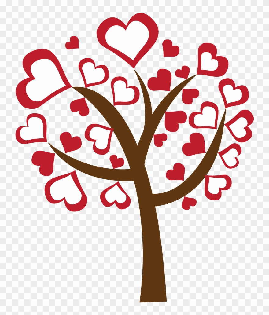Clipart tree heart clip art library download Valentine\'s Day Clipart Heart Tree - Png Download (#2394969 ... clip art library download