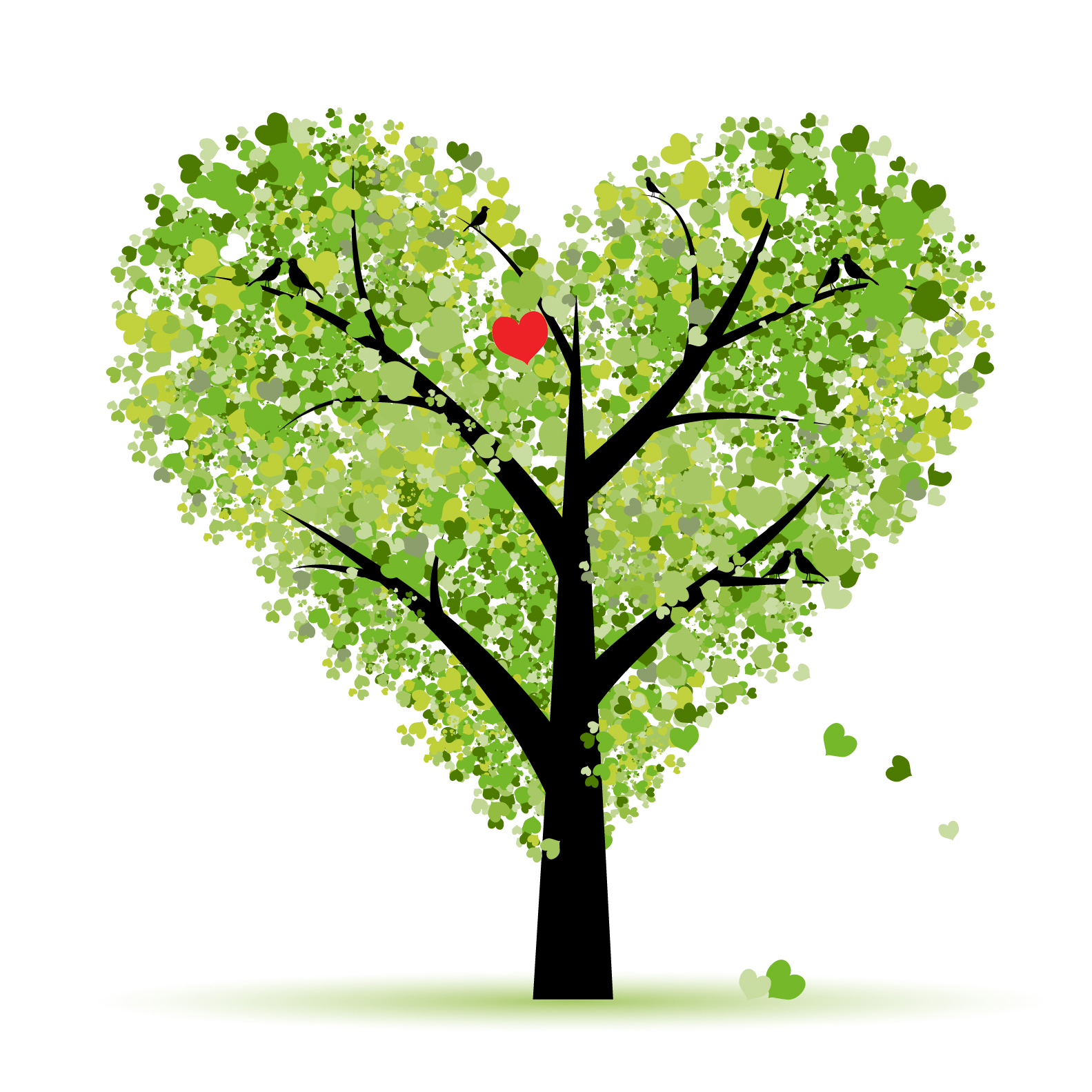 Clipart tree heart vector freeuse stock Free Tree Heart Cliparts, Download Free Clip Art, Free Clip Art on ... vector freeuse stock