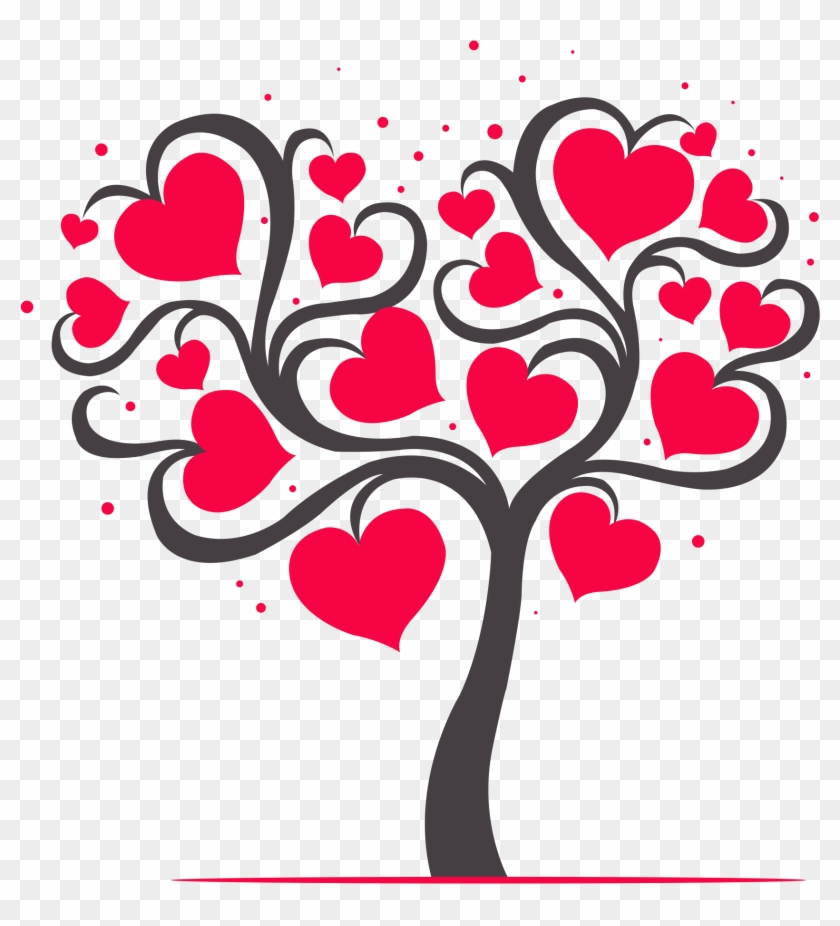 Clipart tree heart clip art freeuse stock Transparent Heart Tree Clipart, HD Png Download - 715x715(#443921 ... clip art freeuse stock