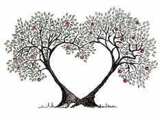 Clipart heart tree clip black and white stock Free Hearts Tree Cliparts, Download Free Clip Art, Free Clip Art on ... clip black and white stock