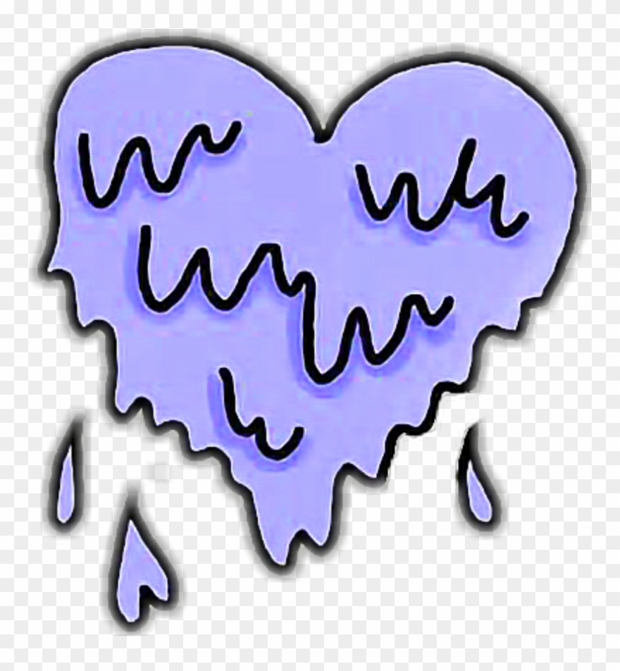 Clipart heart tumblr clipart royalty free heart #hearts #purple #blue #drip #dripping #tumblr Clipart ... clipart royalty free