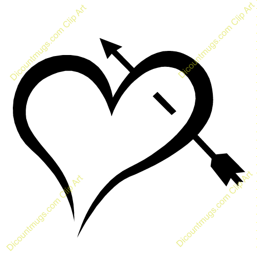 Clipart heart with arrow image Heart with arrow clipart - ClipartFox image