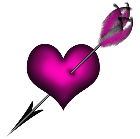 Clipart heart with arrow picture free download Transparent Pink Heart with Arrow PNG Clipart | Hearts & Boxes PNG ... picture free download
