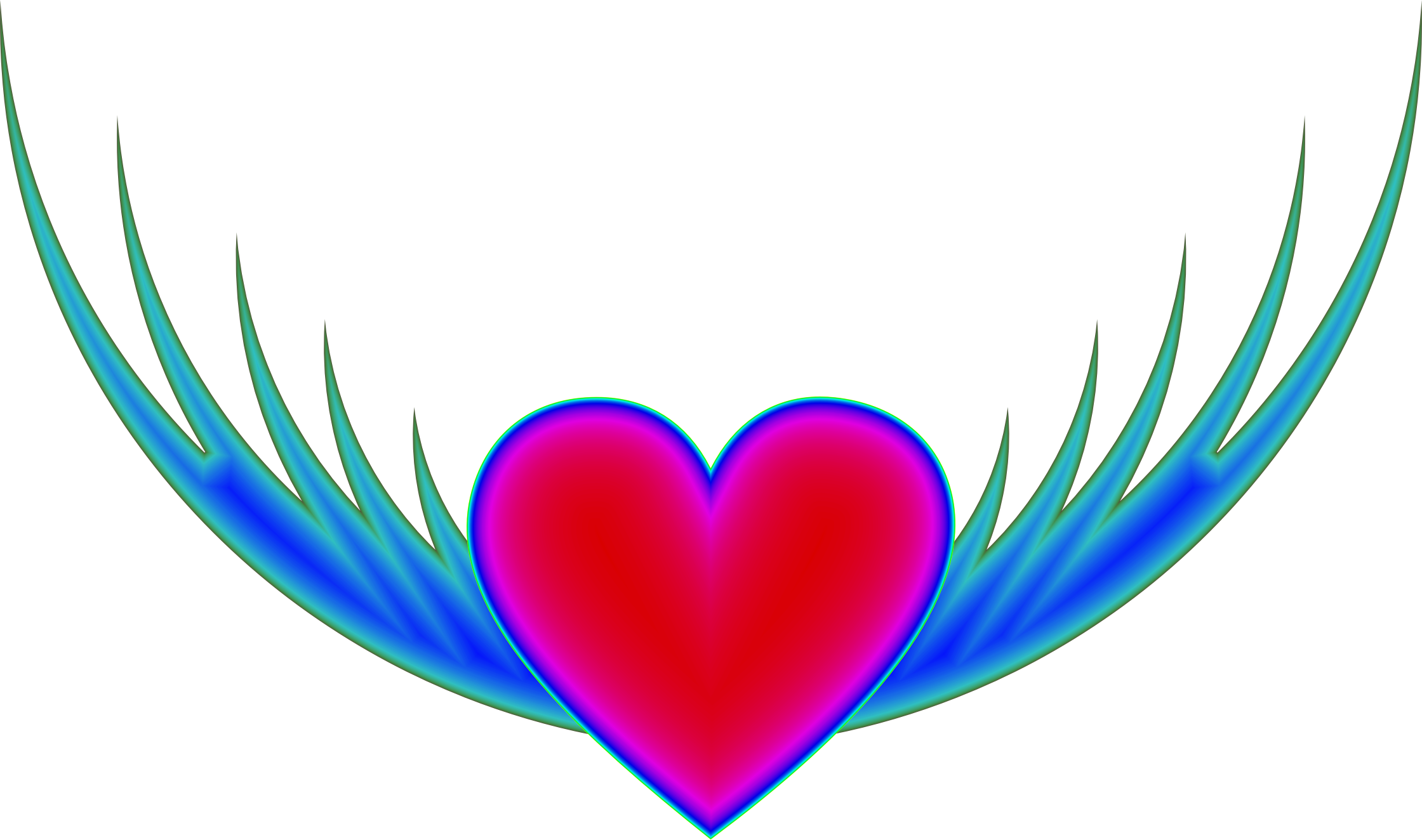 Clipart heart with wings png freeuse library Clipart - Flying Heart png freeuse library