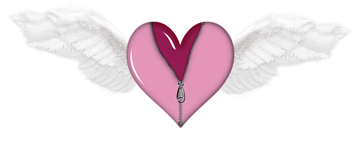 Heart and angel wings clipart image transparent library Zipped Heart with Wings PNG Picture | Gallery Yopriceville - High ... image transparent library