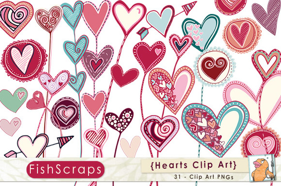 Clipart hearts png freeuse stock Whimsical Heart Clipart - Clipart Kid png freeuse stock