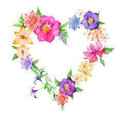 Images best flower tattoo. Clipart hearts and flowers