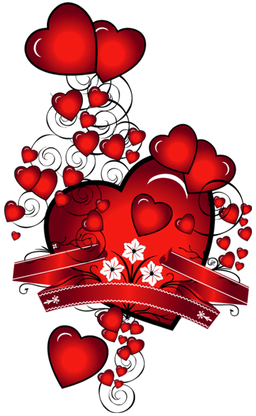 Hearts and flowers clip art svg stock Hearts with Flowers Art PNG Picture svg stock