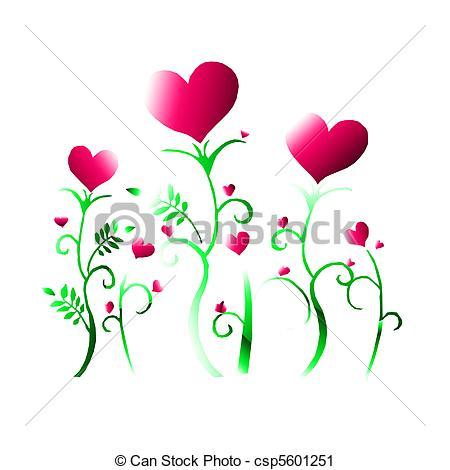 Clipart hearts and flowers. Of heart csp search