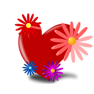 Flower pictures best free. Clipart hearts and flowers