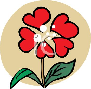Flower made of royalty. Clipart hearts and flowers