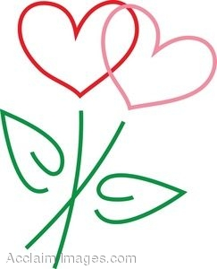 Clip art clipartfest picture. Clipart hearts and flowers
