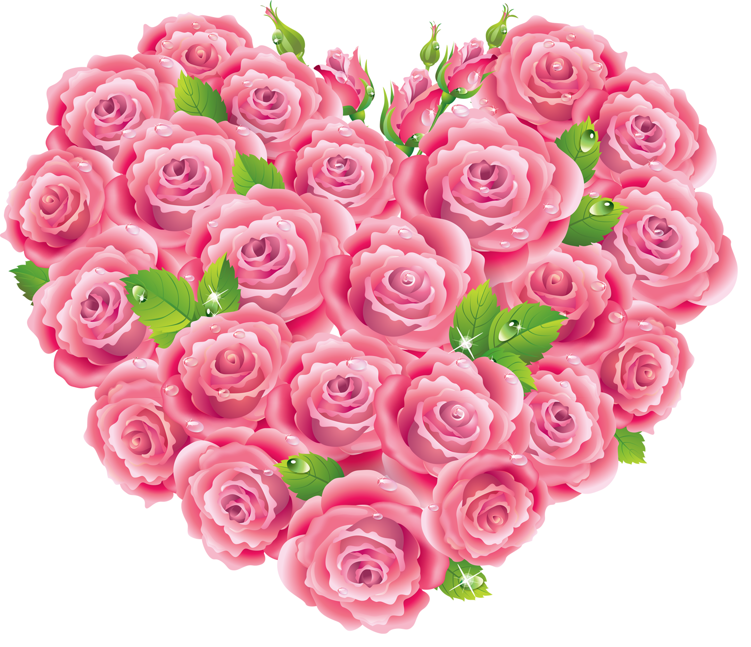 Pink heart clipart graphic download Pink_Roses_Heart_Clipart.png?m=1373234400 graphic download