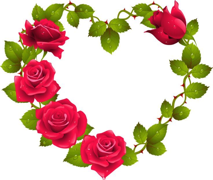 Clipart hearts and roses.  best images about