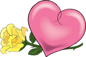 Heart rose clipartfox image. Clipart hearts and roses